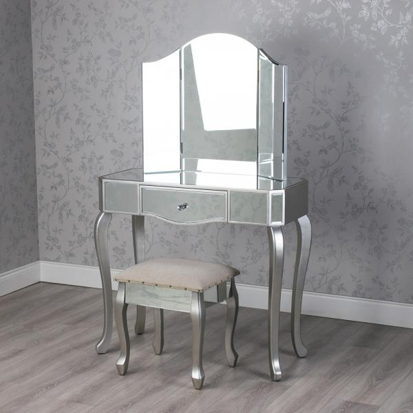 Mirrored Tina Dressing Table Set