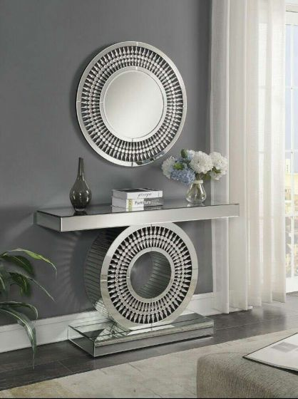 Diana Crystal Mirrored Console & Mirror