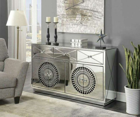 Diana Crystal 4 Door Sideboard
