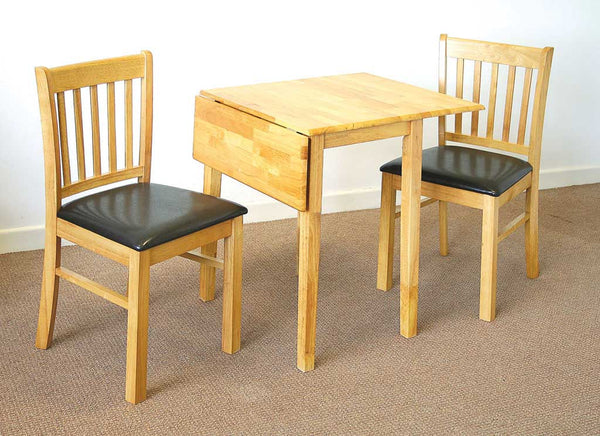 Dropleaf set T121 table with 2 Shannon chairs