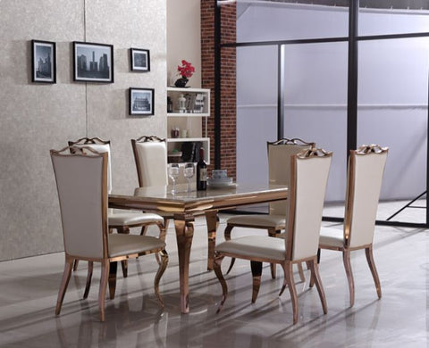 Julie Rose Gold Dining Set