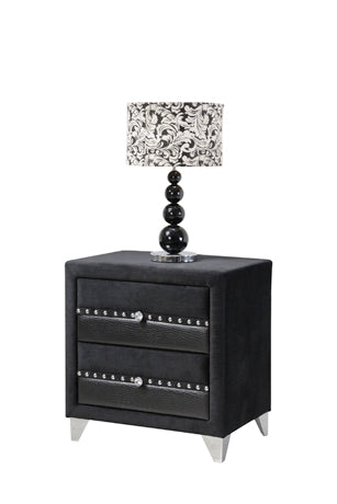 Jasmine Black Bedside Locker