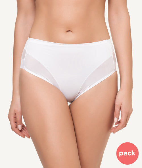 Braga midi invisible blanco PACK - CHANNO