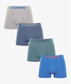 Calzoncillos boxer licra sin costura color uniforme (Pack de 4)