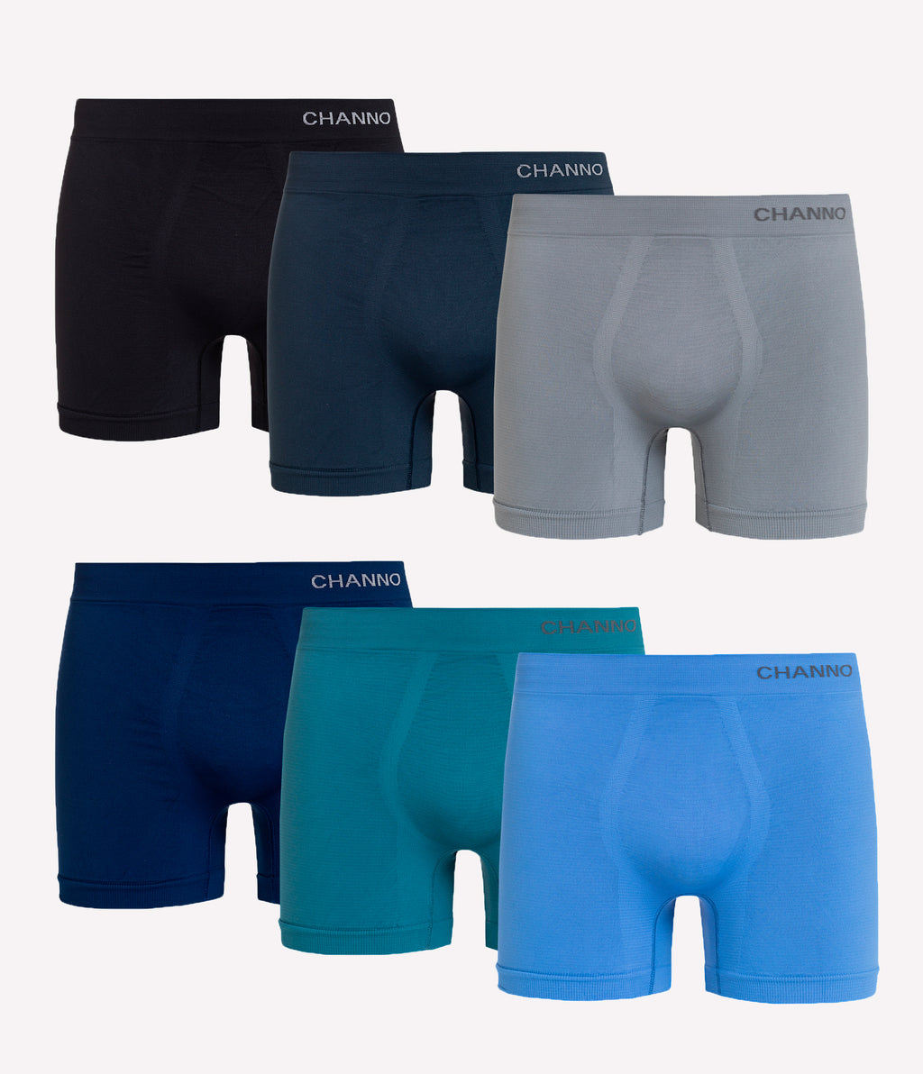 Calzoncillos Deportivos de Lycra Maximum Performance Channo Active Series Lisos (pack de 6)