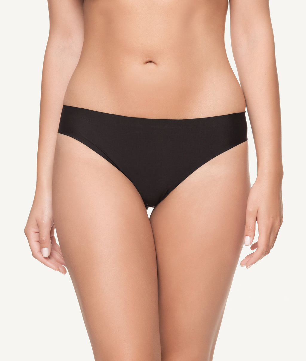 Braga bikini licra invisible con bordados en glúteos frontal - CHANNO Woman