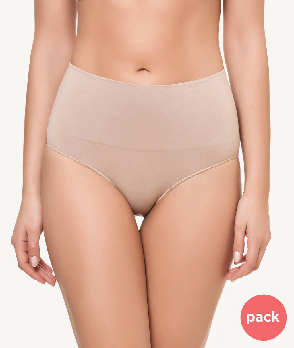 Braga faja baja reafirmante doble capa beige PACK - CHANNO Woman
