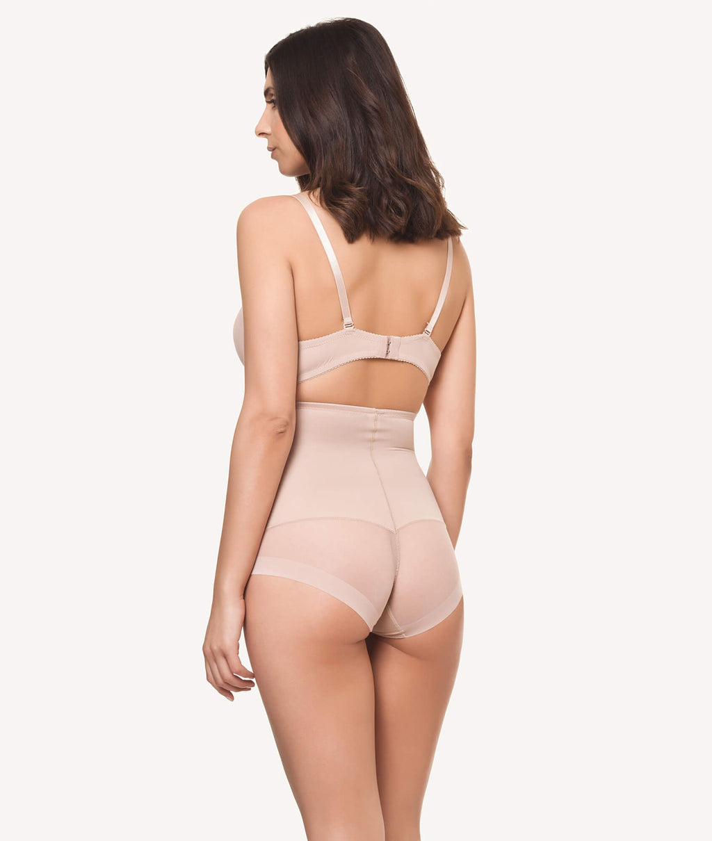 Braga faja reductora invisible beige trasera - CHANNO Woman