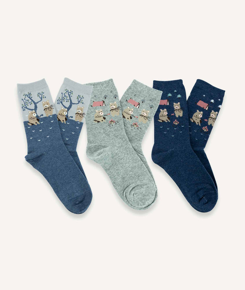 Calcetines largos Mujer (Pack de 3 pares) - Oso