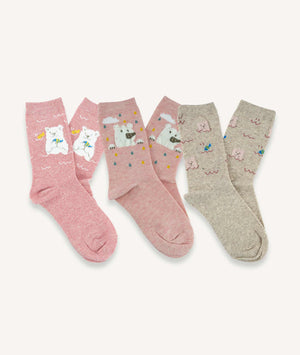 Calcetines largos Mujer (Pack de 3 pares) - Oso Polar