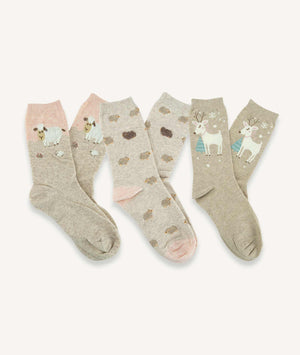 Calcetines largos Mujer (Pack de 3 pares) - Oveja