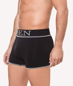 Calzoncillos boxer licra cintura ancha color uniforme lateral - CHANNO Man