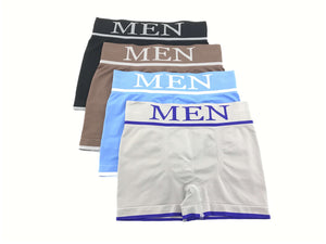 Calzoncillos boxer licra cintura ancha color uniforme pack2 completo - CHANNO Man