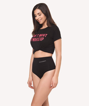 Tanga faja baja reafirmante sin costuras negro lateral - CHANNO Woman