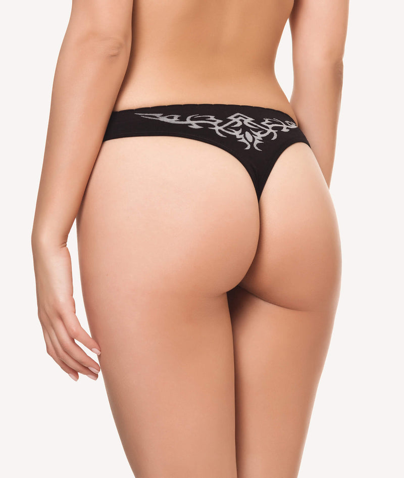 Tanga licra sin costura con estampado tatuaje PACK - CHANNO Woman