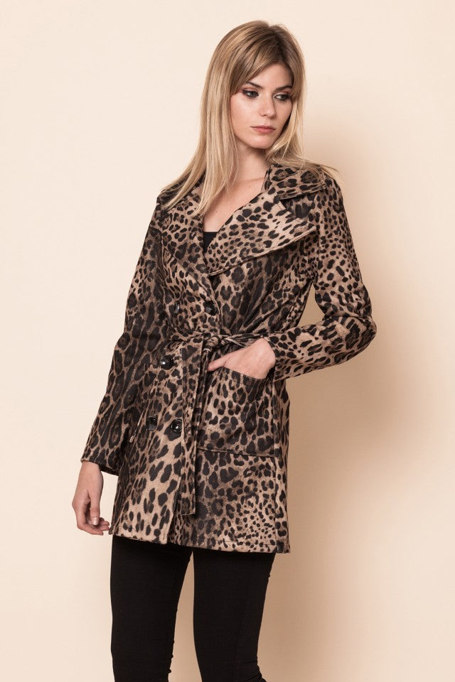 Gabardina Animal Print Leopardo