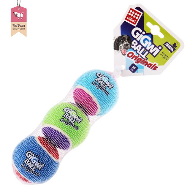 GiGiwi Original Balls Dog Toy - Medium (Pack of 3)