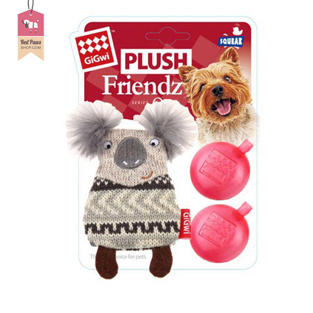 GiGwi Koala Friendz Plush Dog Toy