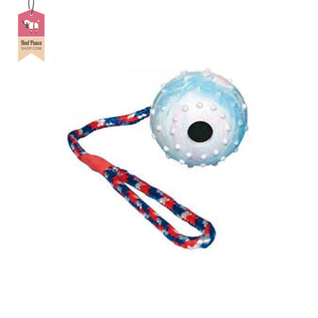 Trixie Ball With Rope Dog Toy