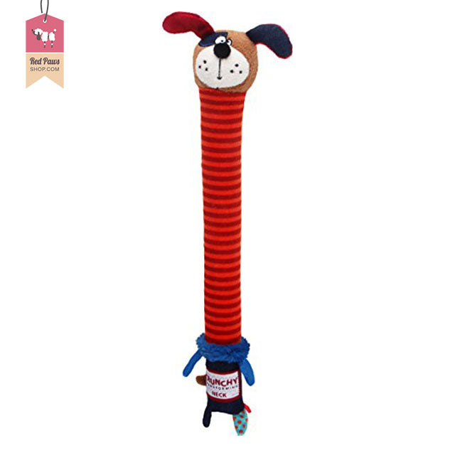 GiGiwi Crunchy Neck Plush with Bone & Squeaky Dog Toy