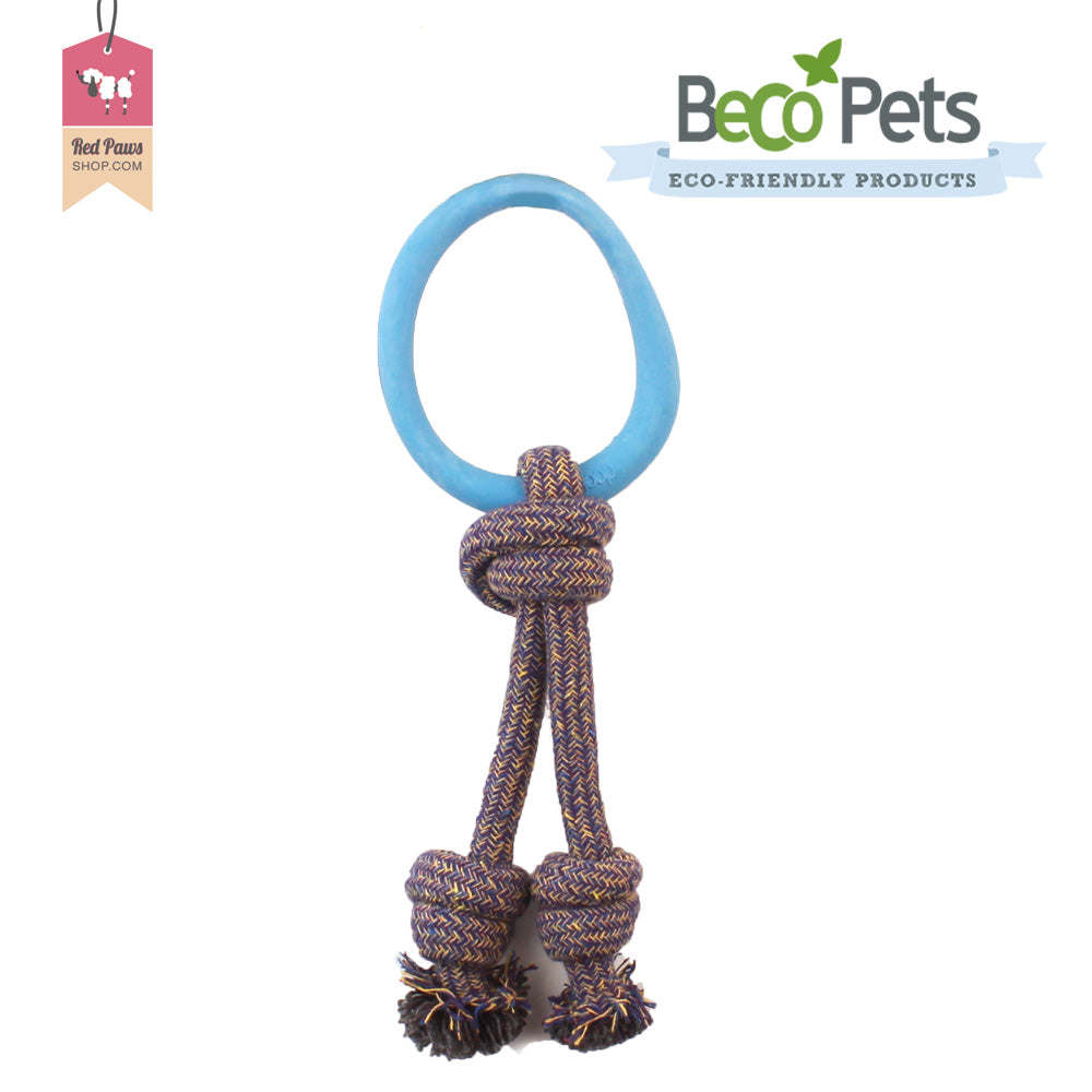 Beco Pets Hoop On Rope Dog Toy
