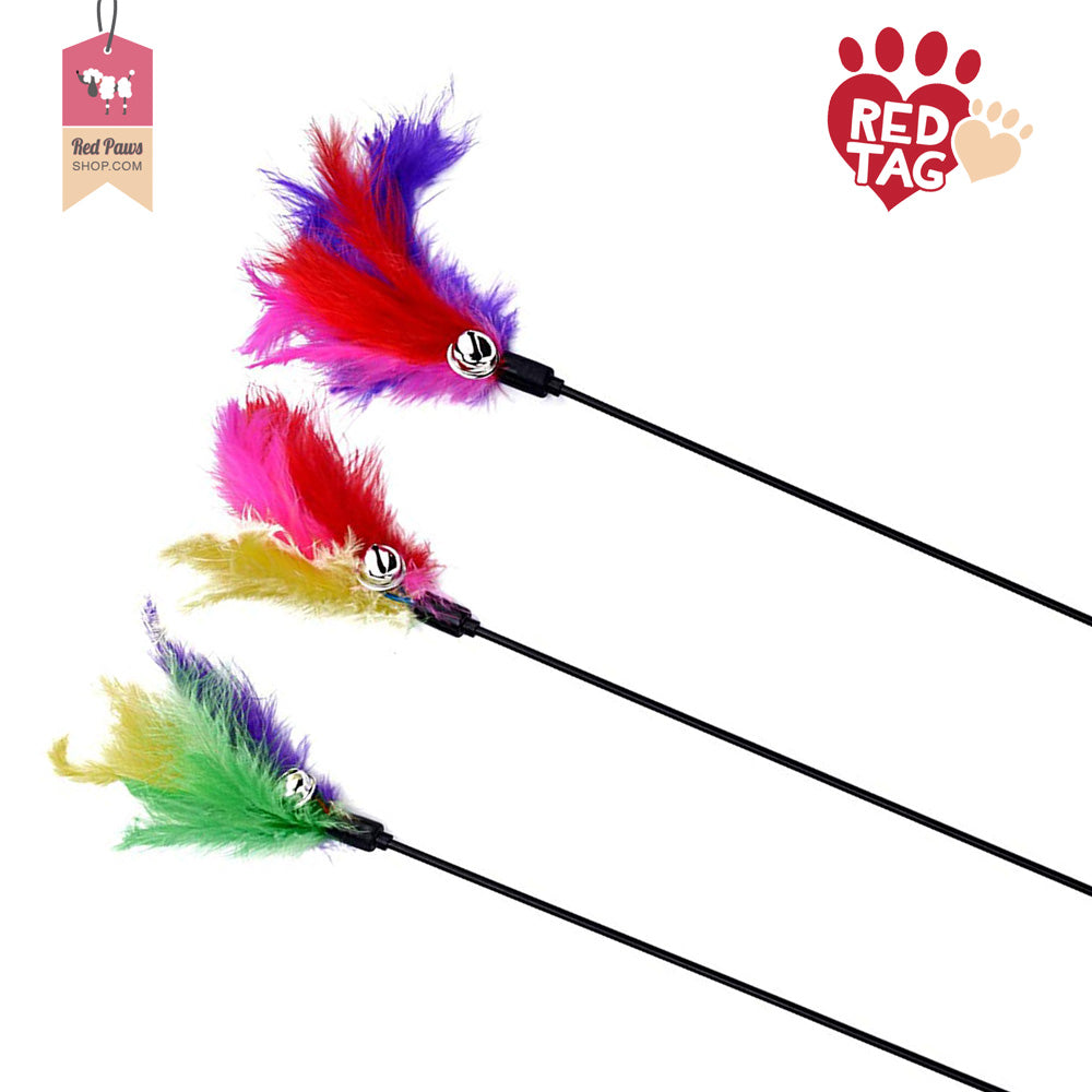 Cat Wand Feather Teaser (Set Of 3)