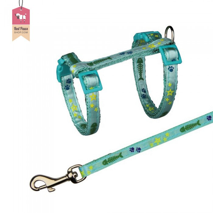 Trixie Cat Harness And Lead With Star & Paw