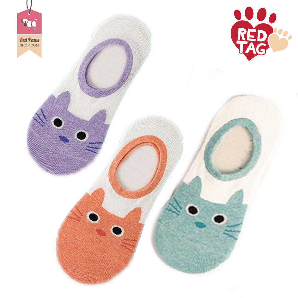 Adorable Cat Print Socks