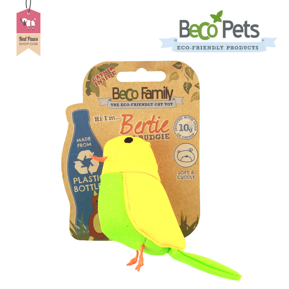 Beco Pets Family Bertie The Budgie Cat Toy