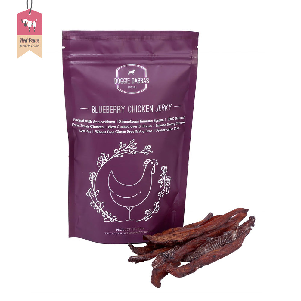 Doggie Dabbas Blueberry Chicken Jerky