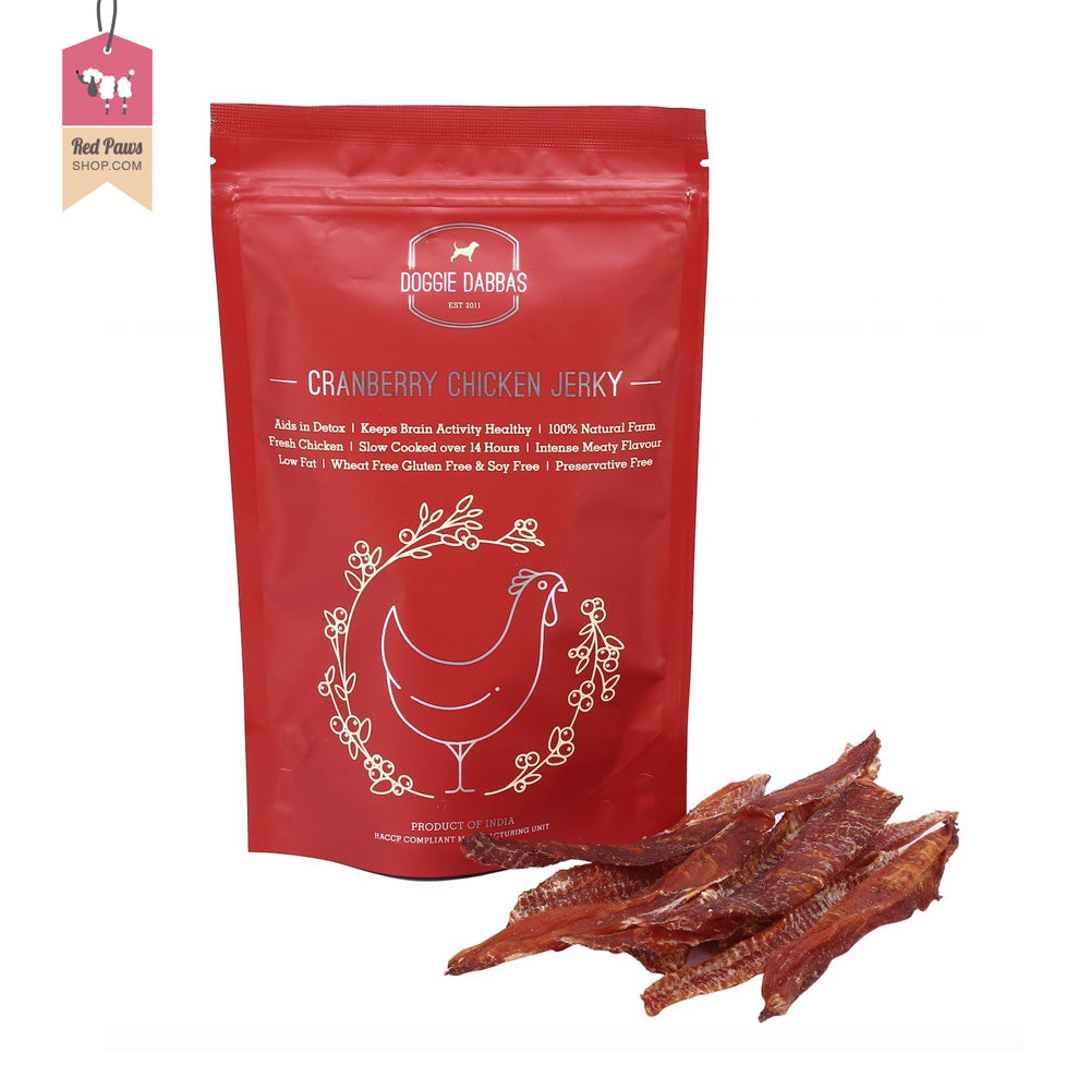 Doggie Dabbas Cranberry Chicken Jerky