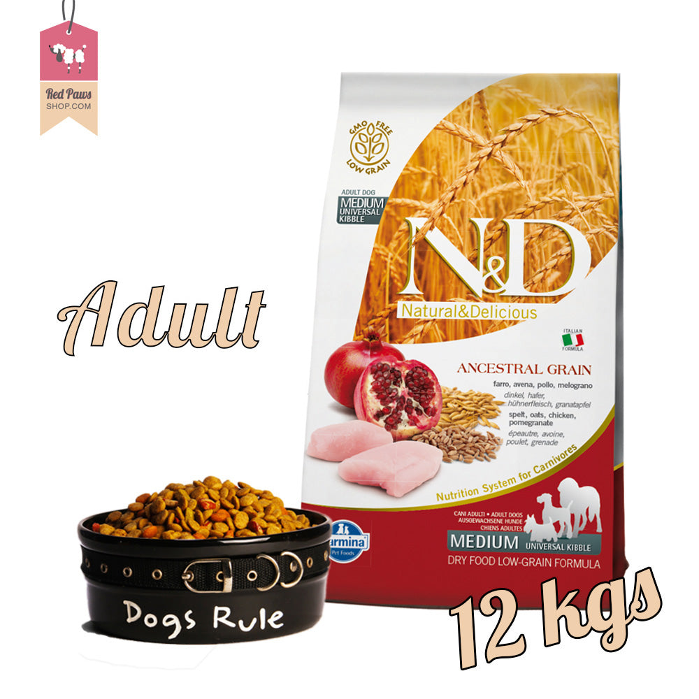N & D Chicken & Pomegranate Adult Medium 12 kgs