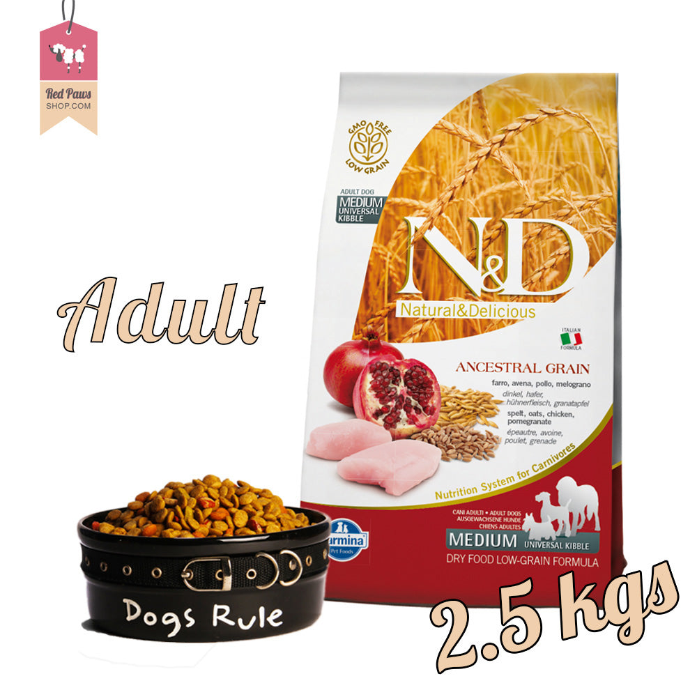 N & D Chicken & Pomegranate Adult Medium 2.5 kgs