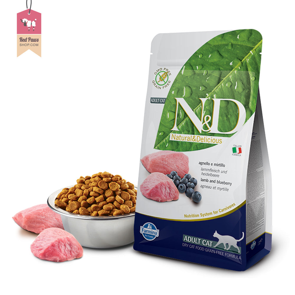 N & D Grain Free Lamb & Blueberry Adult Cat Food 1.5 kgs