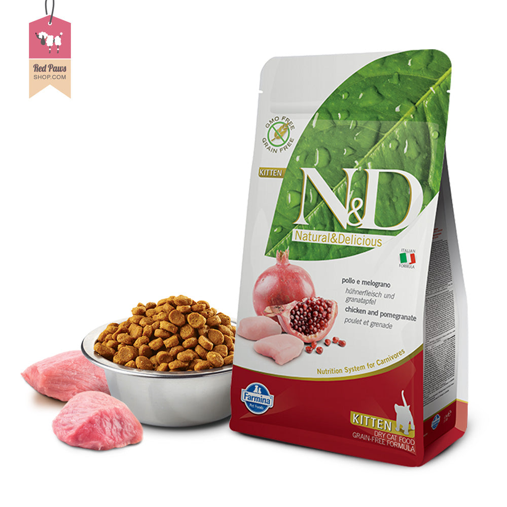 N & D Grain Free Chicken & Pomegranate Kitten Food 1.5 kgs