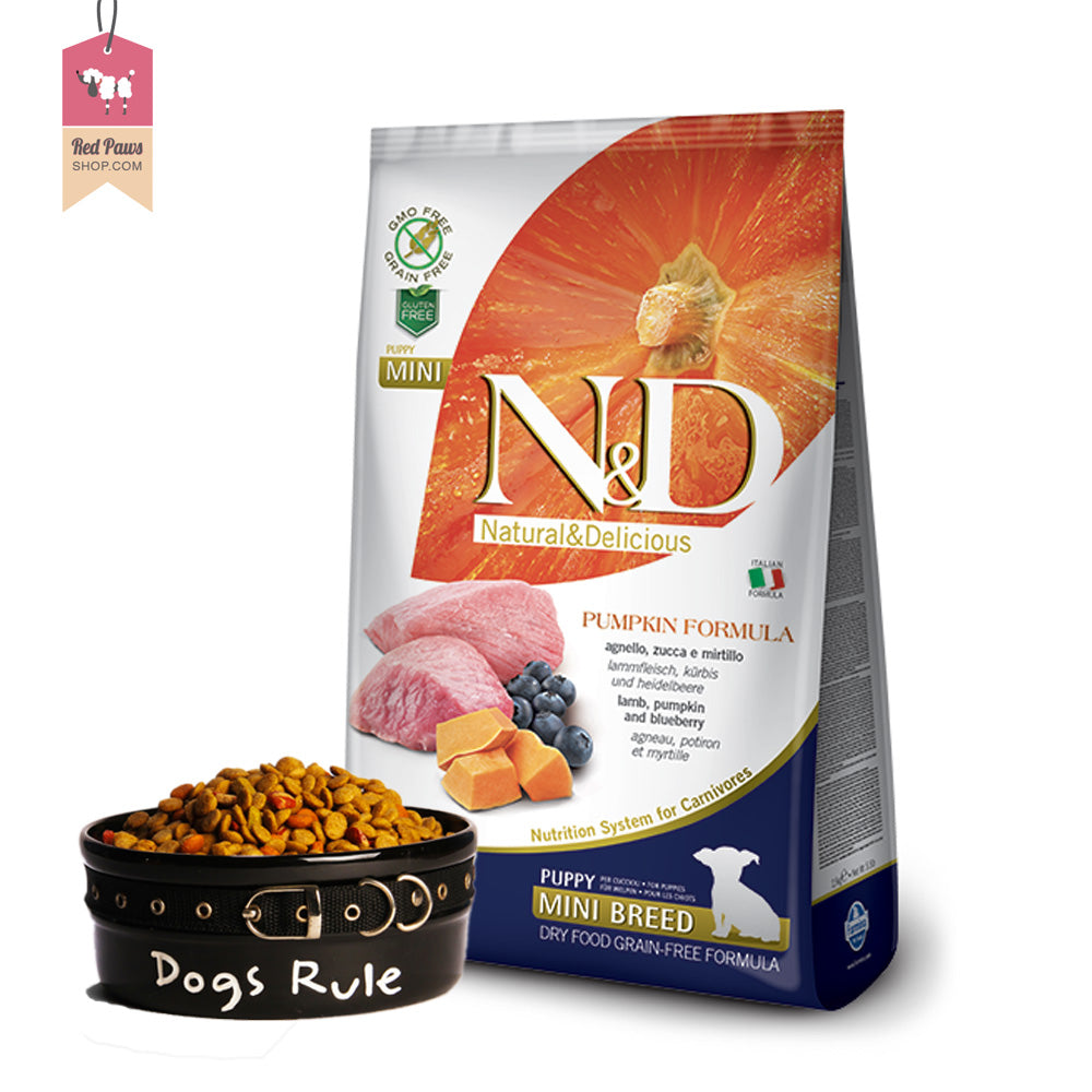 N & D Pumpkin Grain Free - Lamb & Blueberry Puppy Mini 800 Gms
