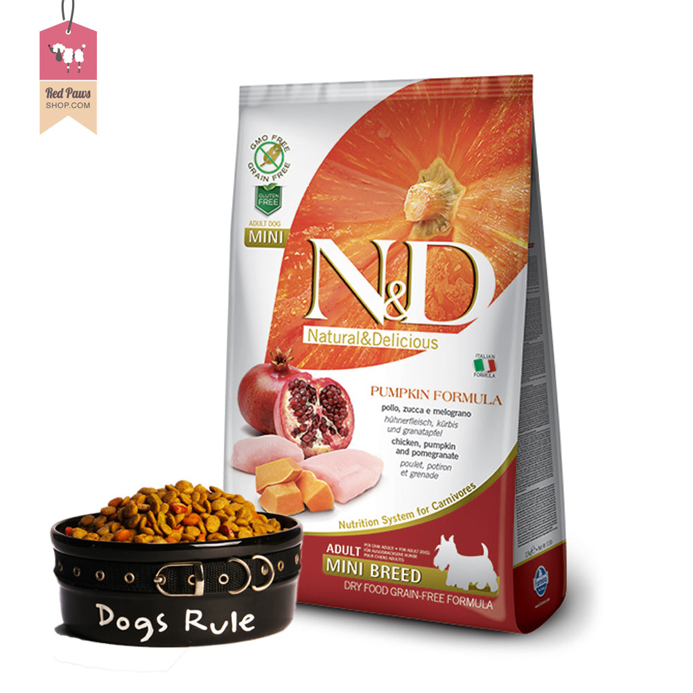 N & D Pumpkin Grain Free - Chicken & Pomegranate Adult Mini 7 kgs