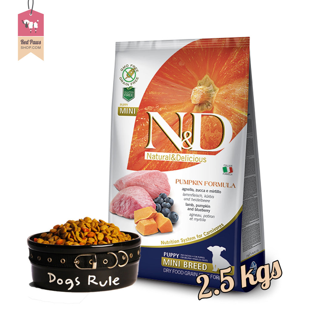 N & D Pumpkin Grain Free - Lamb & Blueberry Puppy Mini 2.5 Kgs