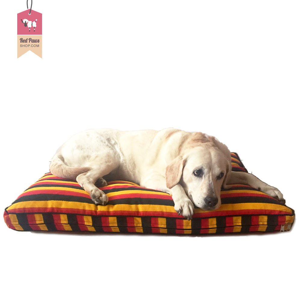 Red Paws Dog Bed