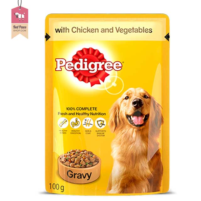 Pedigree Chicken & Vegetables Gravy Pouch (Pack of 12)