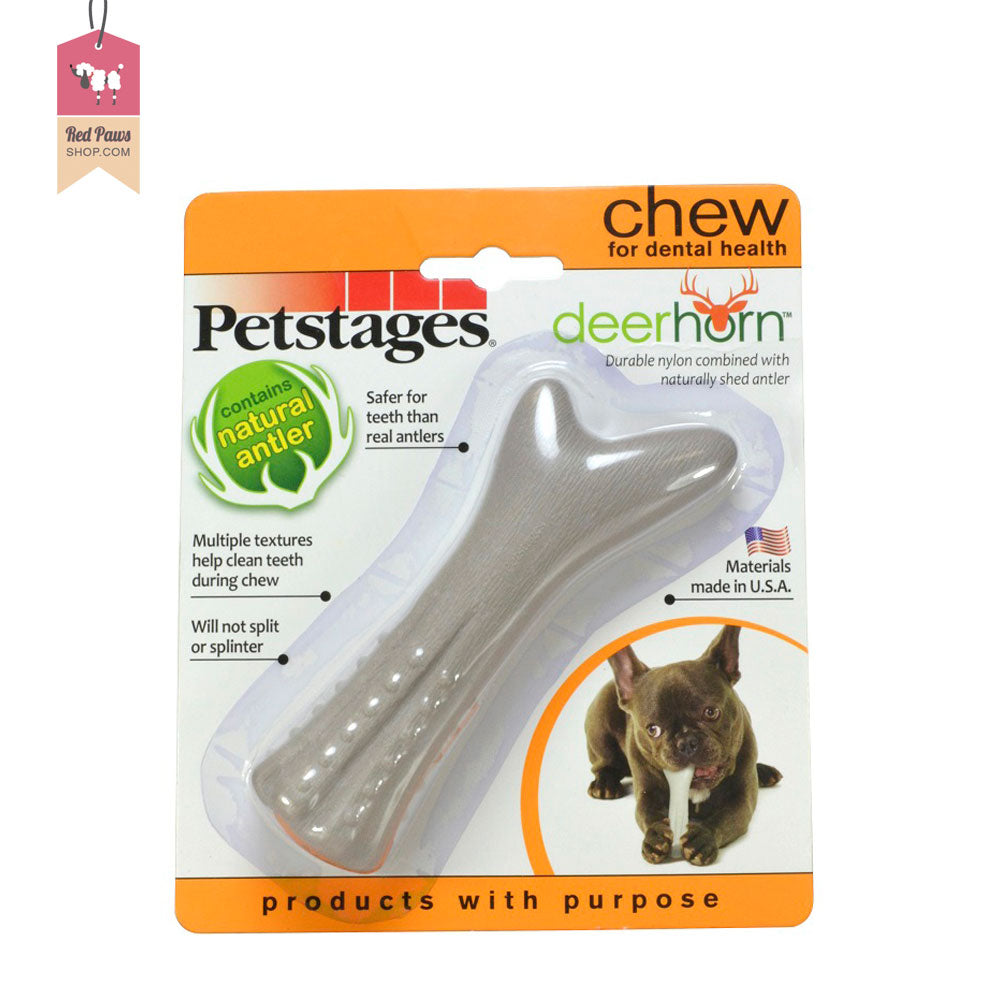 Petstages Deerhorn Durable Chew Dog Toy
