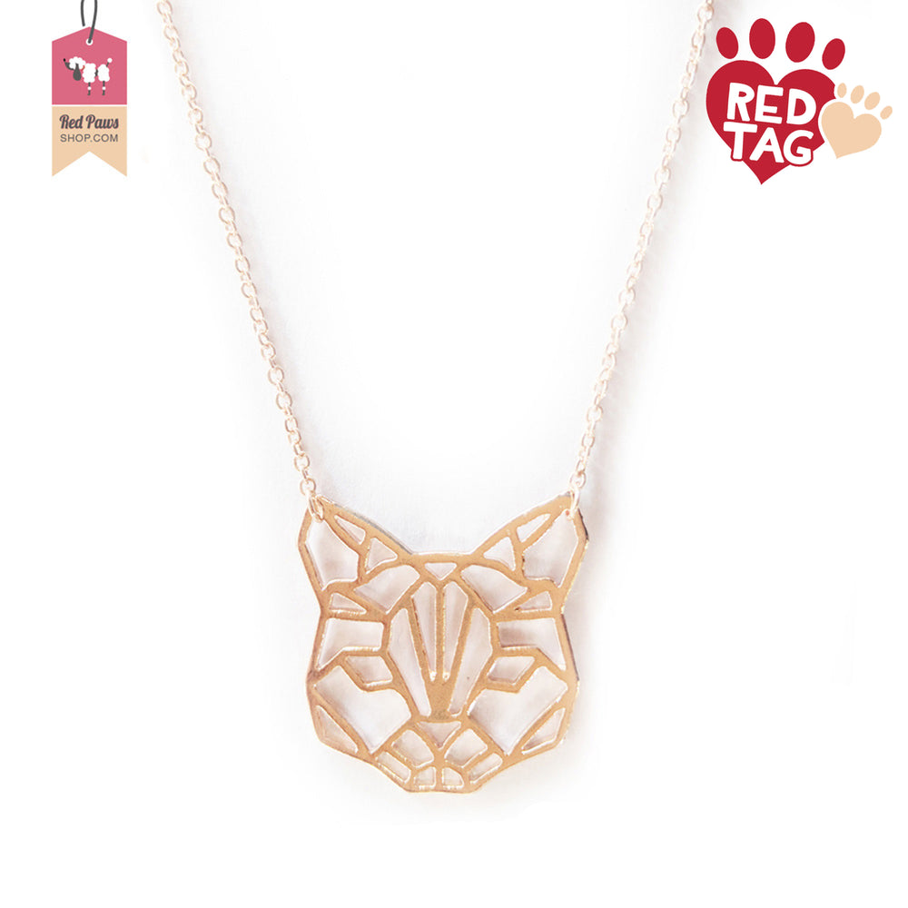 Abstract Animal Wolf Dog Necklace