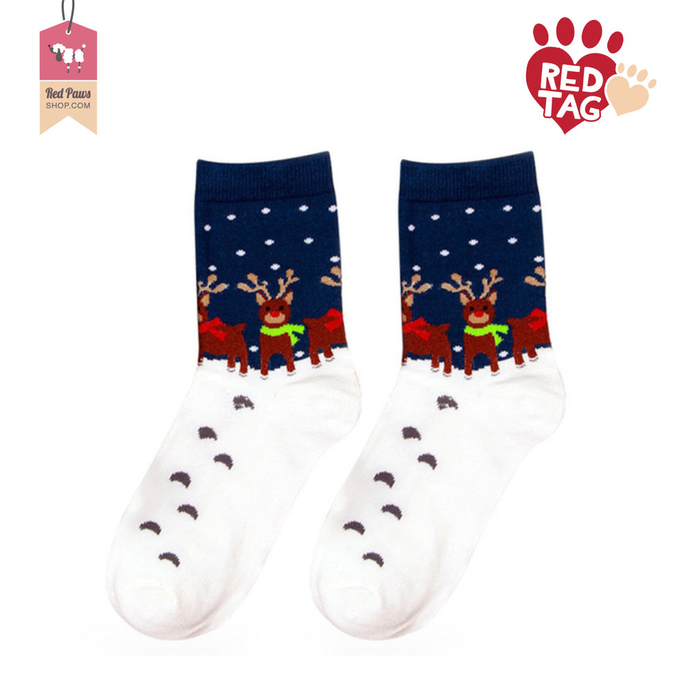 Rudolph in Snow Socks