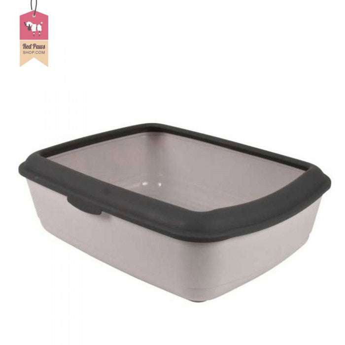 Trixie Classic Cat Litter Tray With Rim - Grey