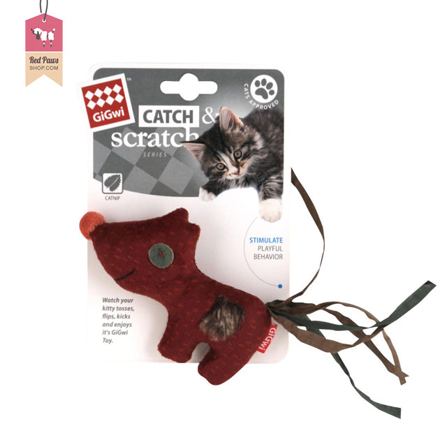 GiGwi Catch & Scratch Cat Toys – Fox