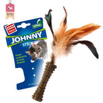 Gigwi Catnip Johnny Stick With Natural Feather Brown