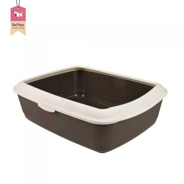 Trixie Classic Cat Litter Tray With Rim - Brown