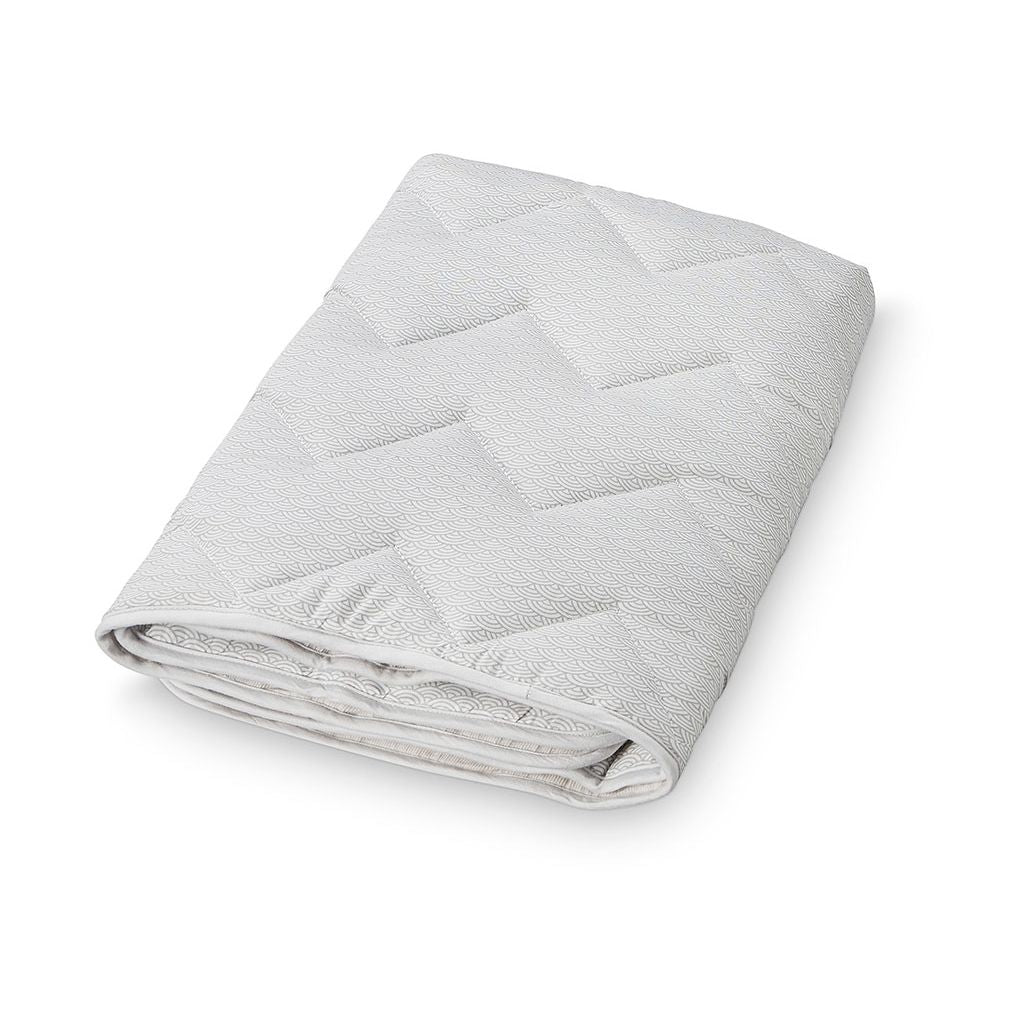 Organic Cotton Baby Blanket, Grey Wave
