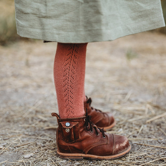 Crochet Tights, Terracotta