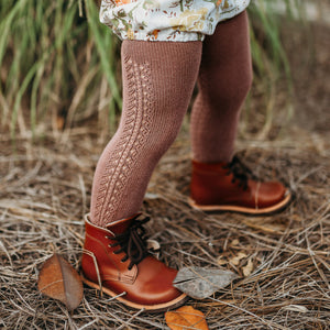 Crochet Tights, Nutmeg